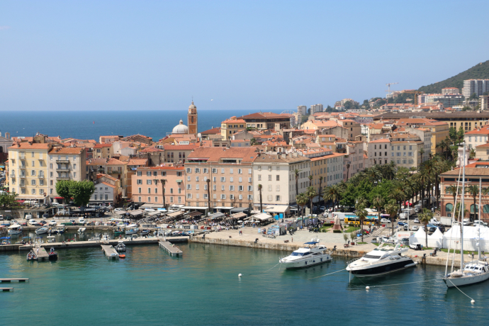 Ajaccio is the capital and largest city of Corsica island in France.